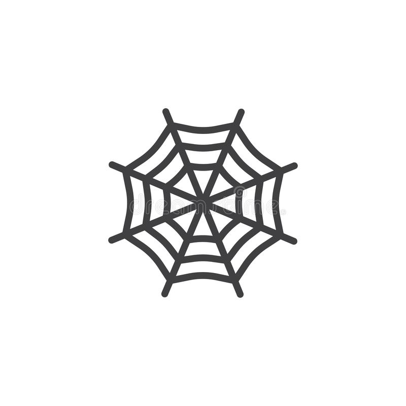 Vecteur d'icône de toile d'araignée illustration stock