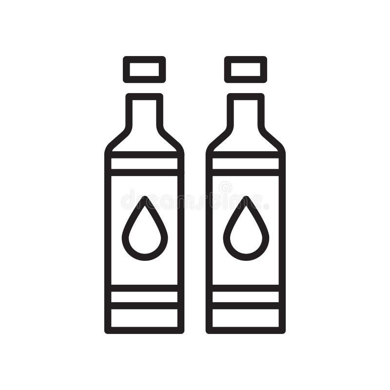 Vecteur d'icône de toner d'isolement sur le fond blanc, signe de toner, lin illustration de vecteur