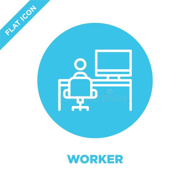 Vecteur d'icône de travailleur Ligne mince illustration de vecteur d'icône d'ensemble de travailleur symbole de travailleur pour  illustration de vecteur