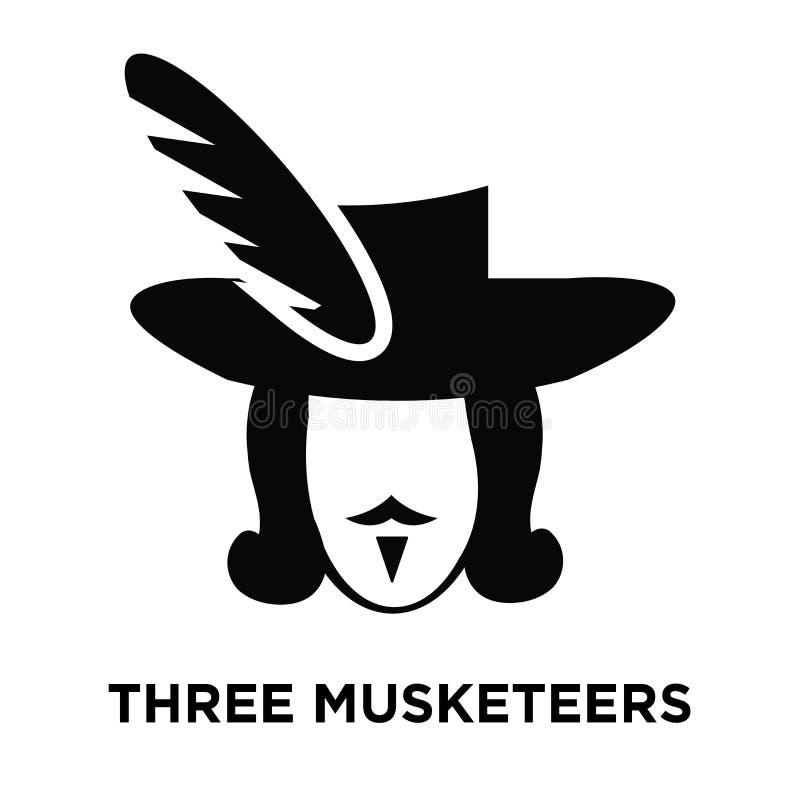 Vecteur d'icône de trois mousquetaires d'isolement sur le fond blanc, logo illustration de vecteur