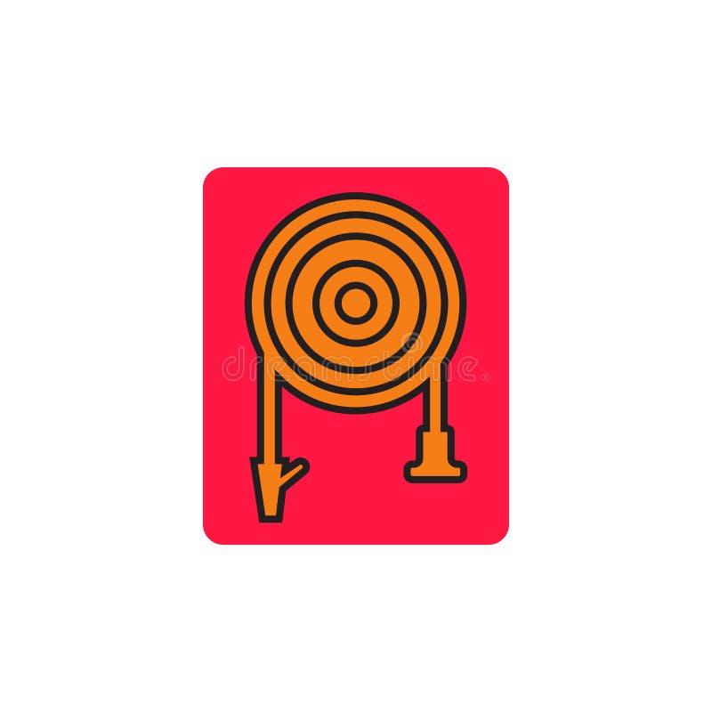 Vecteur d'icône de tuyau de l'eau d'isolement sur le fond blanc, signe de tuyau de l'eau, symboles de catastrophe illustration libre de droits
