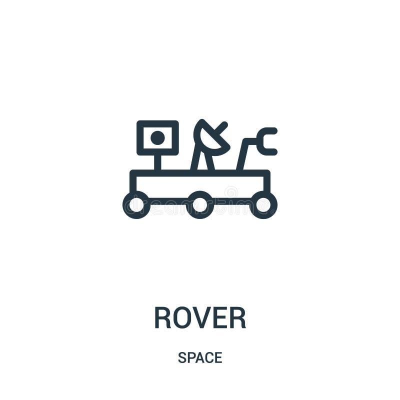 vecteur d'icône de vagabond de collection de l'espace Ligne mince illustration de vecteur d'icône d'ensemble de vagabond illustration de vecteur