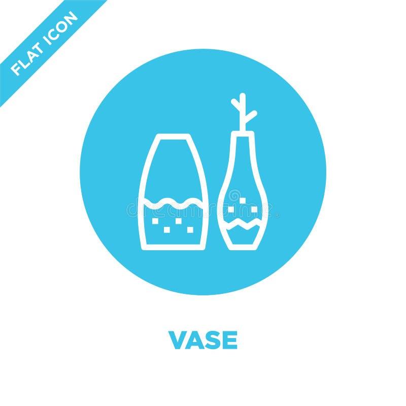 vecteur d'icône de vase de collection de meubles Ligne mince illustration de vecteur d'icône d'ensemble de vase Symbole linéaire  illustration de vecteur
