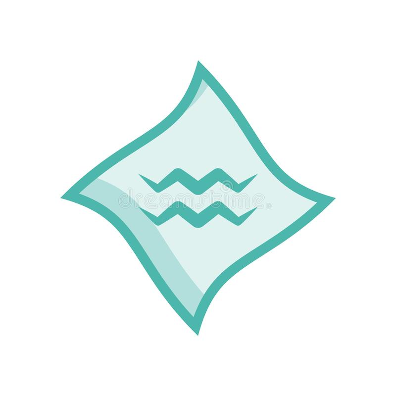 Vecteur d'icône de Verseau d'isolement sur le fond blanc, signe de Verseau illustration libre de droits