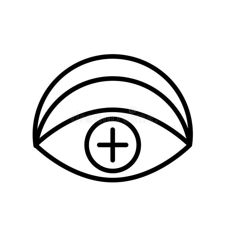 Vecteur d'icône de vision d'isolement sur le fond blanc, le signe de vision, la ligne ou le signe linéaire, conception d'élément  illustration stock