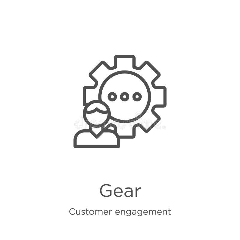vecteur d'icône de vitesse de collection d'engagement de client Ligne mince illustration de vecteur d'ic?ne d'ensemble de vitesse illustration de vecteur