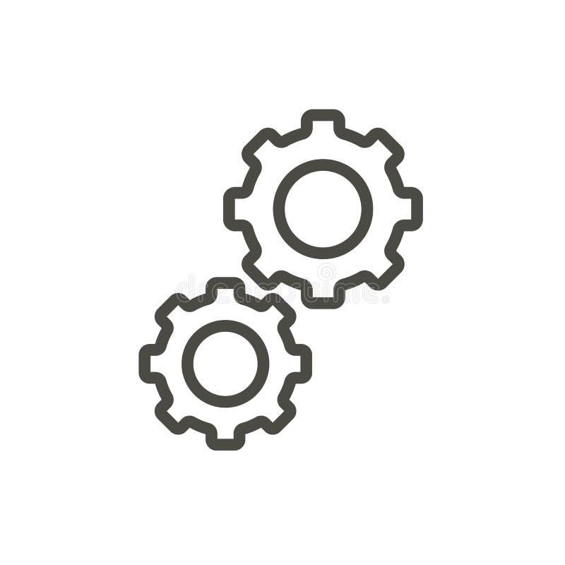 Vecteur d'icône de vitesse Progrès d'ensemble, ligne symbole de vitesse illustration stock
