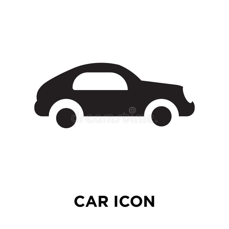 Vecteur d'icône de voiture d'isolement sur le fond blanc, concept de logo de Ca illustration stock