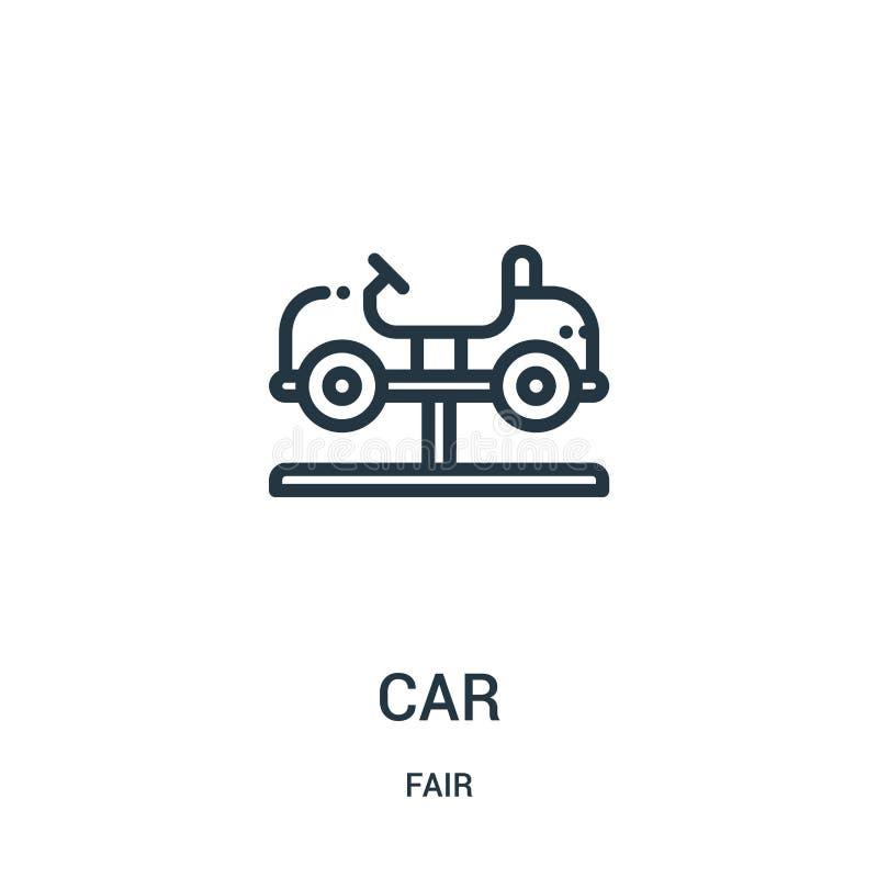 vecteur d'icône de voiture de la collection juste Ligne mince illustration de vecteur d'icône d'ensemble de voiture Symbole linéa illustration de vecteur