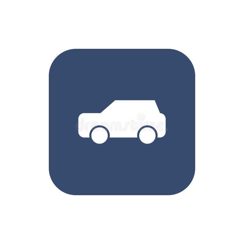 Vecteur d'icône de voiture sur le fond illustration libre de droits