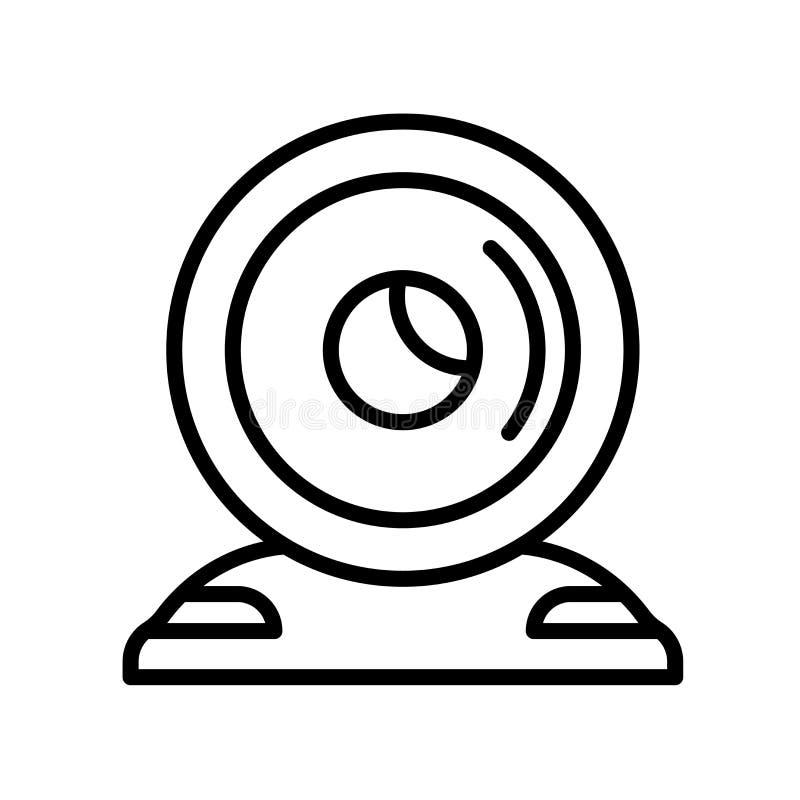 Vecteur d'icône de webcam d'isolement sur le fond blanc, signe de webcam, l illustration stock