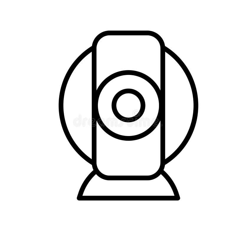 Vecteur d'icône de webcam d'isolement sur le fond blanc, le signe de webcam, la ligne ou le signe linéaire, conception d'élément  illustration stock
