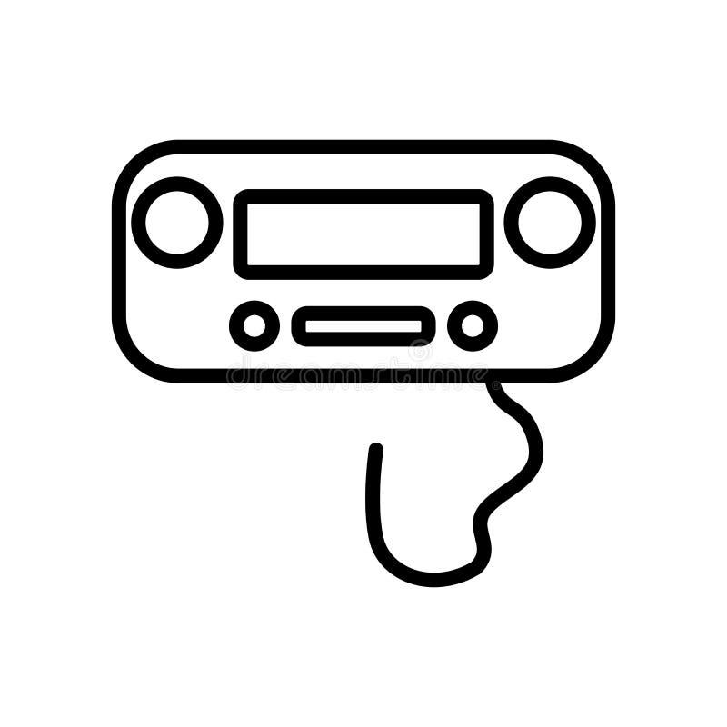 Vecteur d'icône de Wii Gamepad d'isolement sur le fond blanc, Wii Gamepa illustration de vecteur