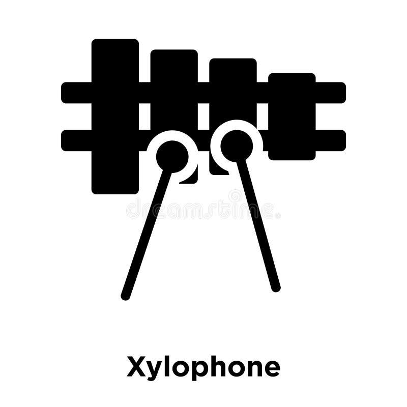 Vecteur d'icône de xylophone d'isolement sur le fond blanc, concept de logo illustration libre de droits