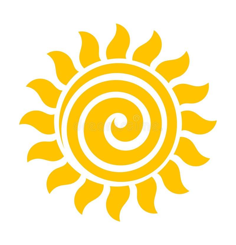 Vecteur d'icône du soleil de remous illustration libre de droits