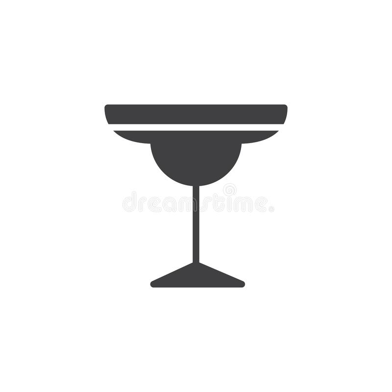 Vecteur d'icône en verre de cocktail illustration stock