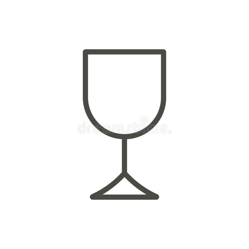 Vecteur d'icône en verre de vin Boisson d'ensemble, ligne symbole d'alcool illustration de vecteur