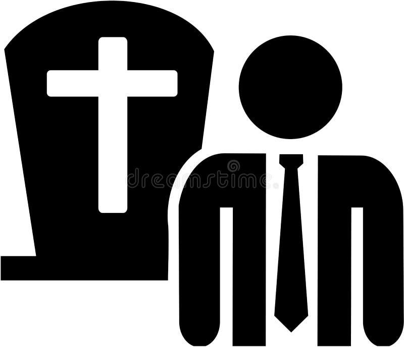 Vecteur d'icône d'entrepreneur de pompes funèbres illustration libre de droits