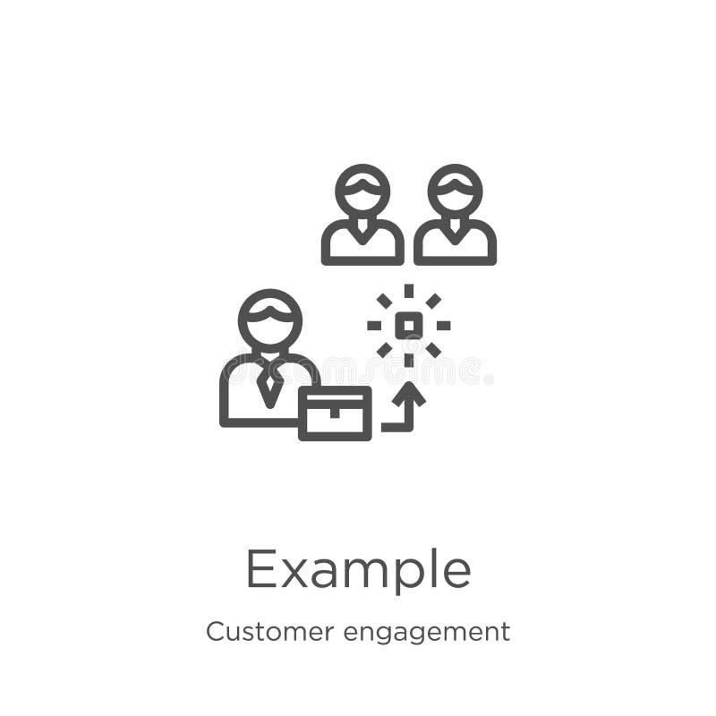 vecteur d'icône d'exemple de collection d'engagement de client Ligne mince illustration de vecteur d'icône d'ensemble d'exemple C illustration de vecteur