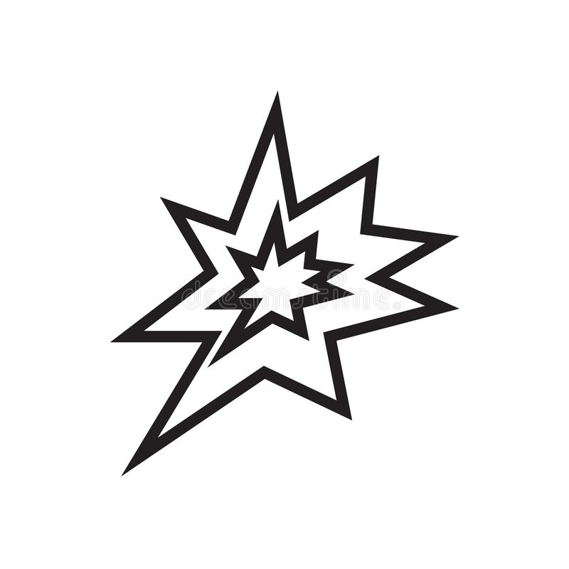 Vecteur d'icône d'explosion d'isolement sur le fond blanc, signe d'explosion illustration stock
