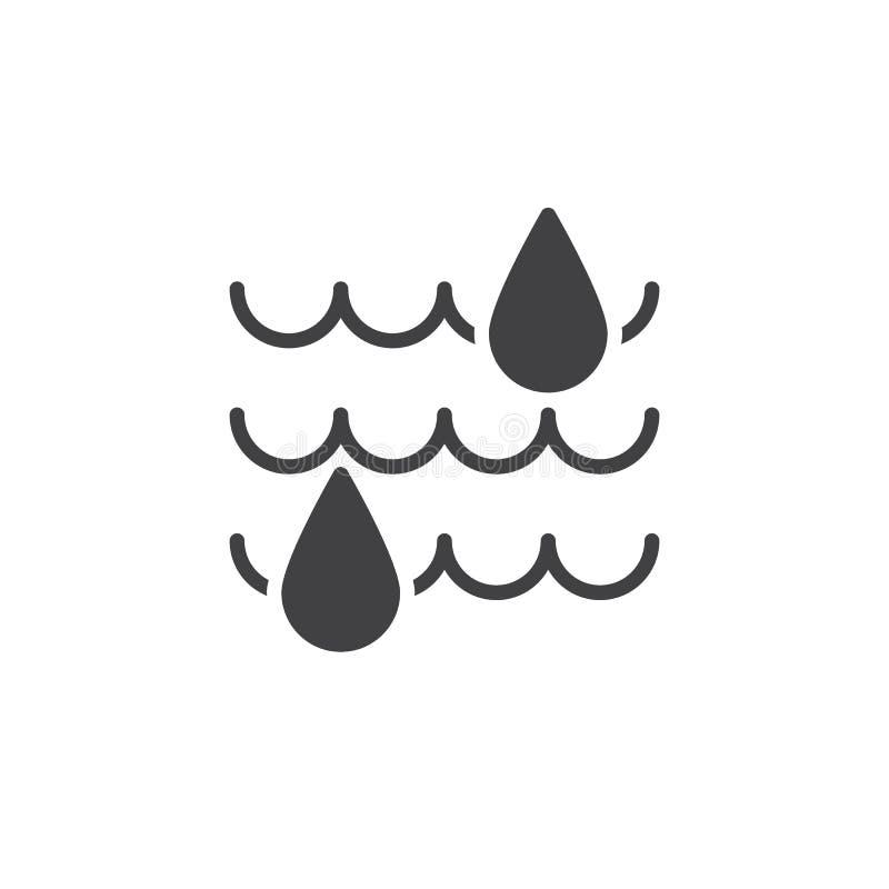 Vecteur d'icône d'humidité illustration libre de droits