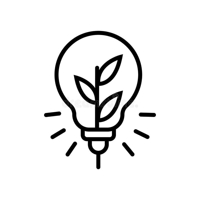 Vecteur d'icône d'idée d'isolement sur le fond blanc, le signe d'idée, la ligne ou le signe linéaire, conception d'élément dans l illustration stock