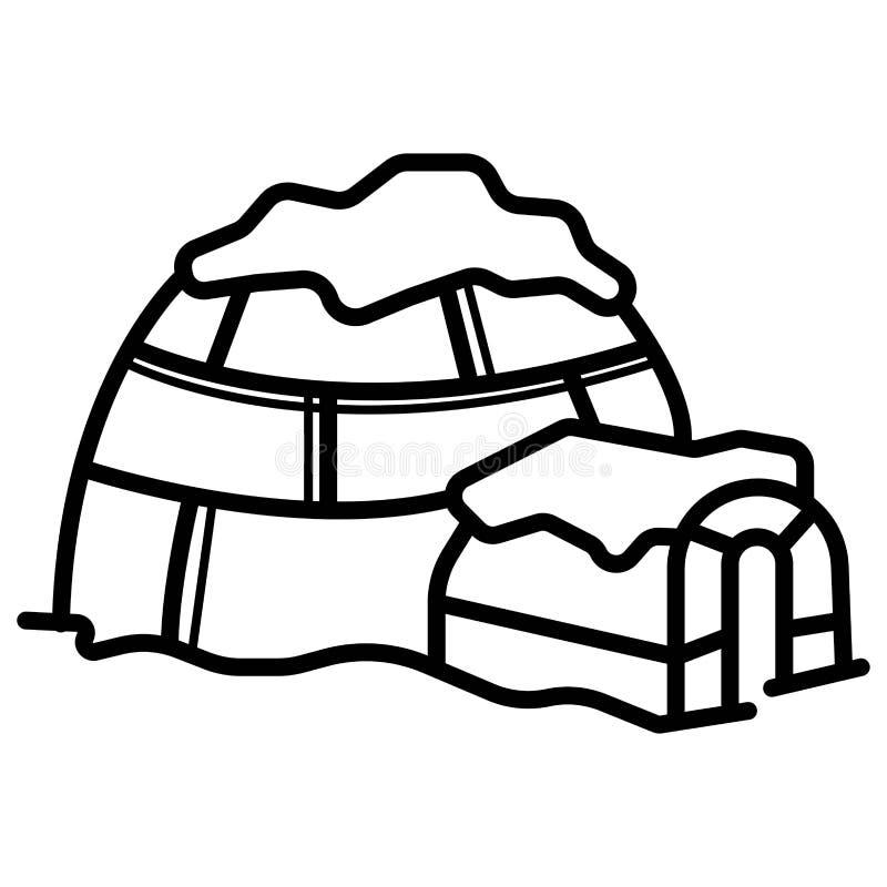 Vecteur d'icône d'igloo illustration de vecteur