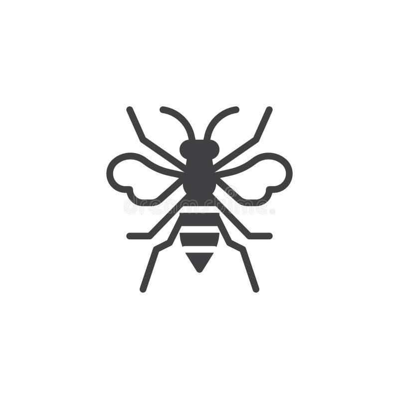 Vecteur d'icône d'insecte de guêpe illustration libre de droits