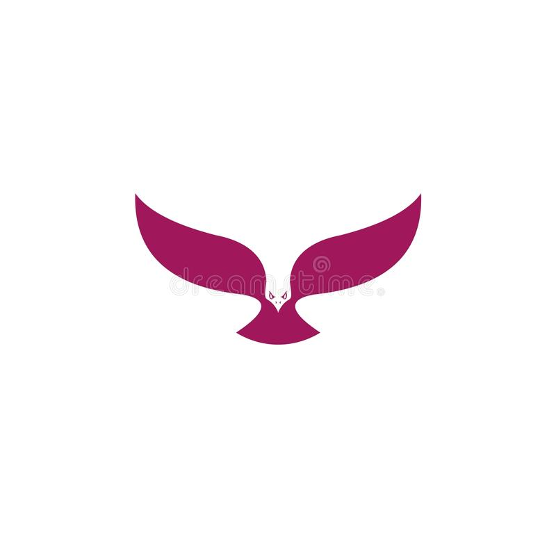 Vecteur d'icône d'oiseau, conception d'illustration de logo symbole ou mascotte illustration stock
