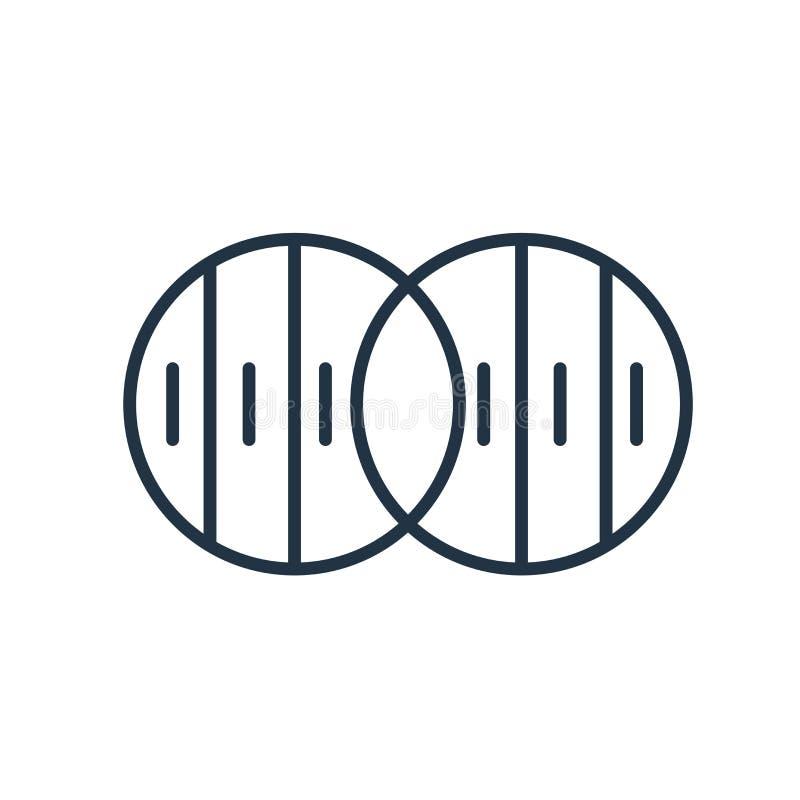 Vecteur d'icône d'opacité d'isolement sur le fond blanc, signe d'opacité illustration libre de droits