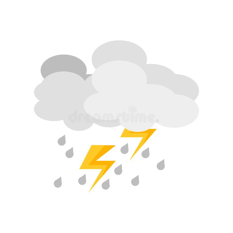 Vecteur d'icône d'orage d'isolement sur le fond blanc, signe d'orage, symboles de temps illustration stock