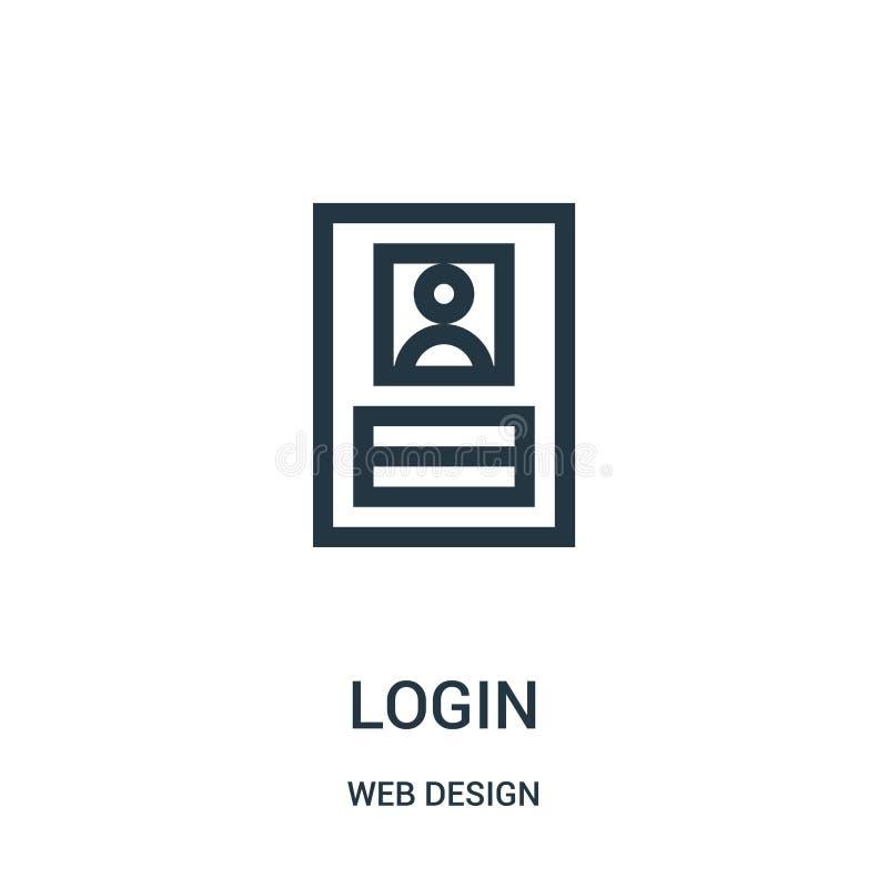vecteur d'icône d'ouverture de collection de conception web Ligne mince illustration de vecteur d'icône d'ensemble d'ouverture illustration libre de droits