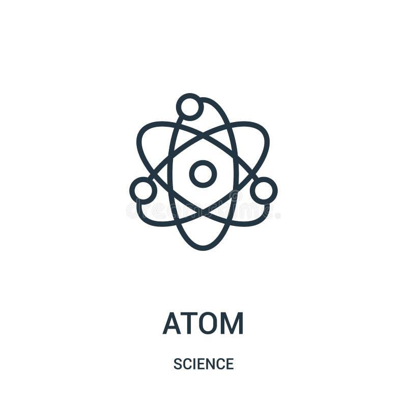 vecteur d'ic?ne d'atome de collection de la science Ligne mince illustration de vecteur d'ic?ne d'ensemble d'atome Symbole lin?ai illustration de vecteur