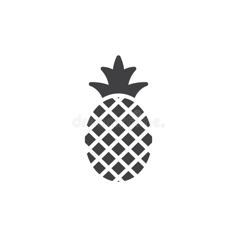 Vecteur d'icône d'ananas, signe plat rempli illustration libre de droits