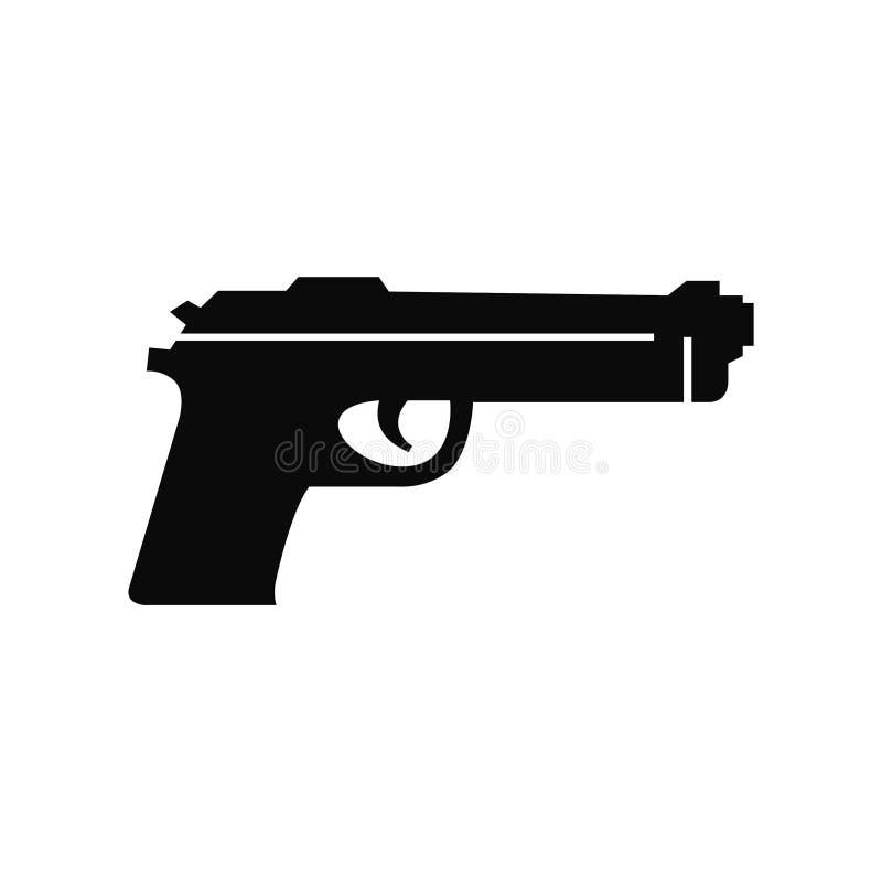 Vecteur d'icône d'arme à feu illustration de vecteur
