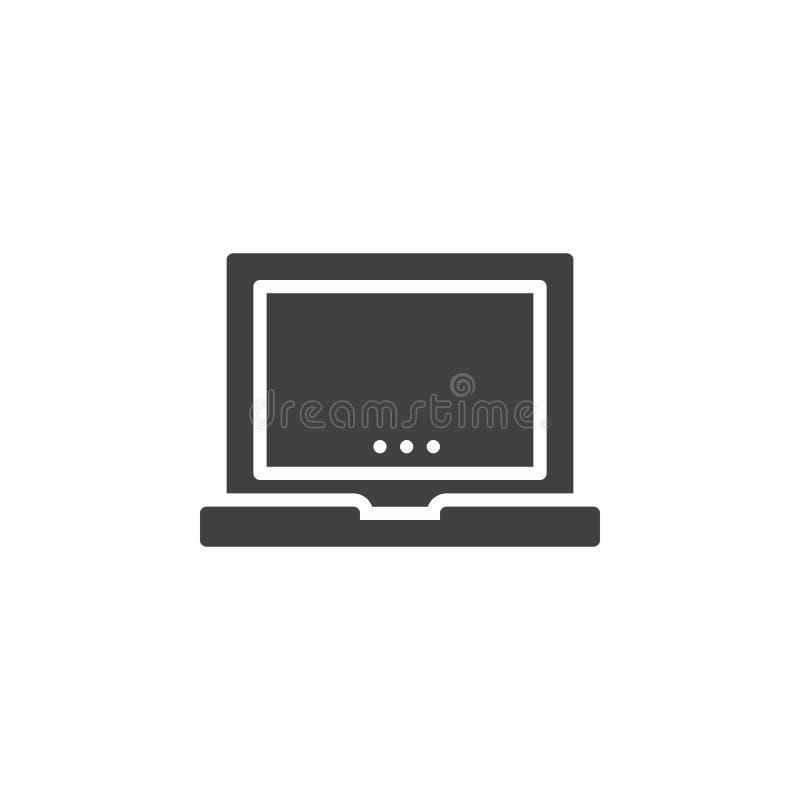 Vecteur d'icône d'ordinateur portable, signe plat rempli illustration de vecteur