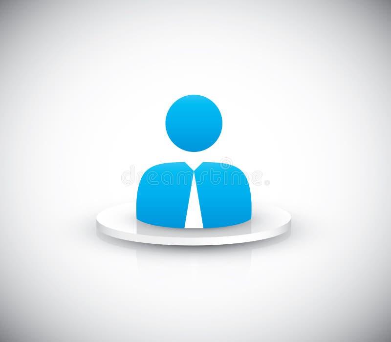 Vecteur d'icône d'utilisateur d'homme d'affaires illustration de vecteur