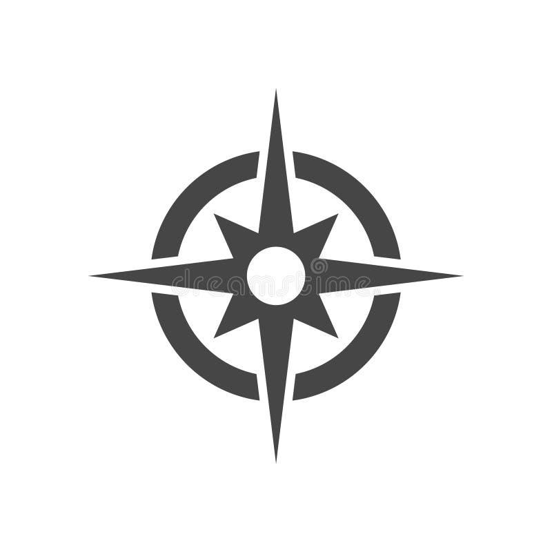 Vecteur d'icône de boussole illustration de vecteur