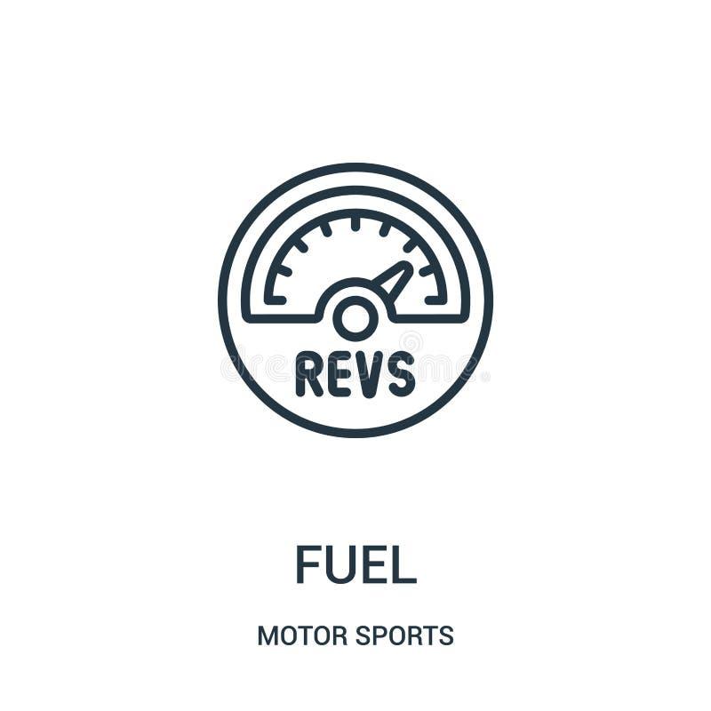 vecteur d'ic?ne de carburant de collection de sports automobiles r Symbole lin?aire illustration stock