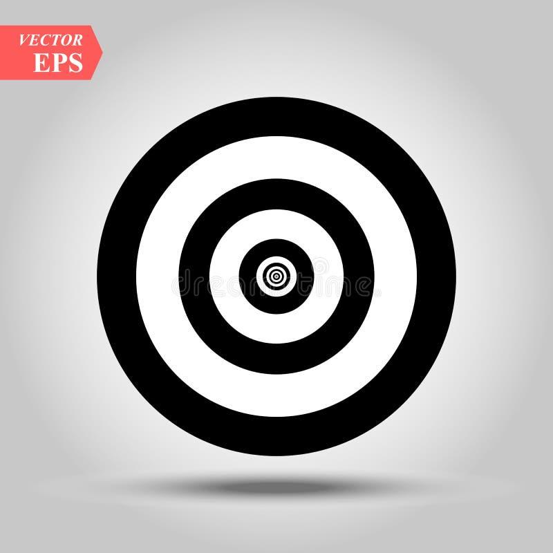 Vecteur d'ic?ne de cible Symbole plat simple Illustration noire parfaite de pictogramme sur le fond blanc illustration stock