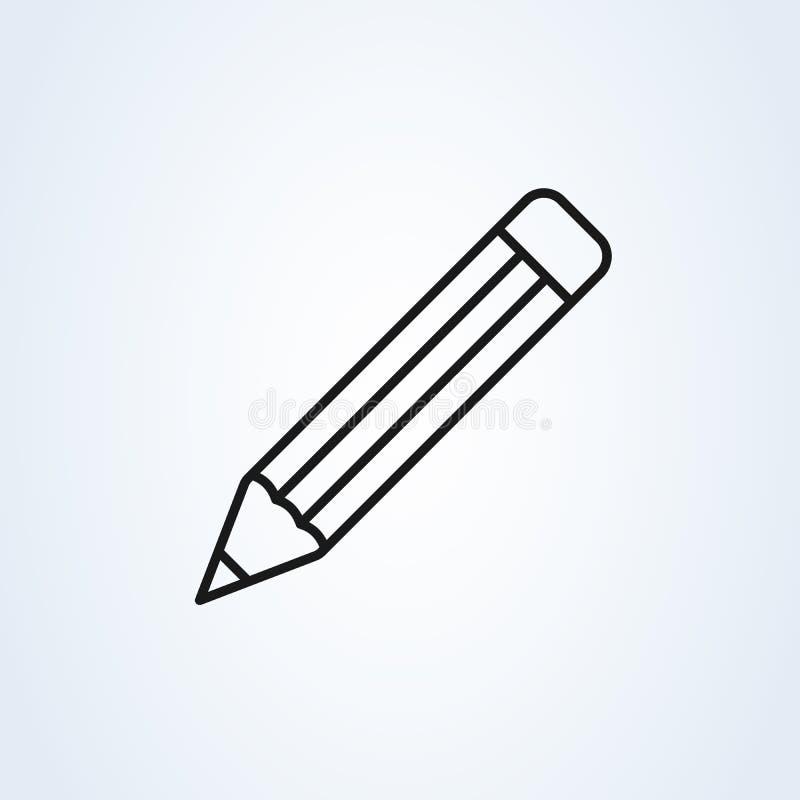 Vecteur d'ic?ne de crayon Illustration noire parfaite de pictogramme sur le fond blanc illustration stock