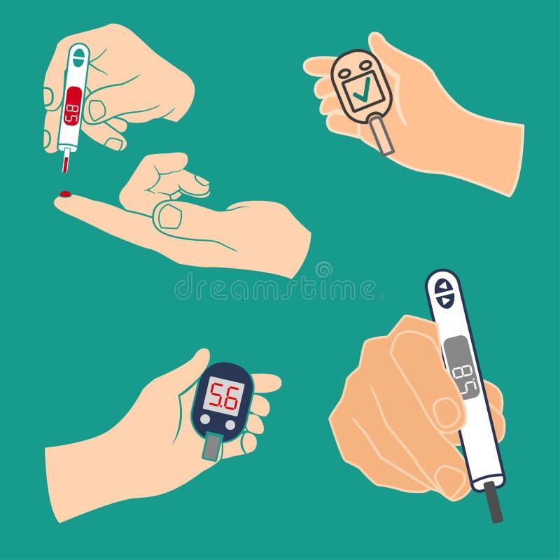 Vecteur d'icône de diabète illustration de vecteur