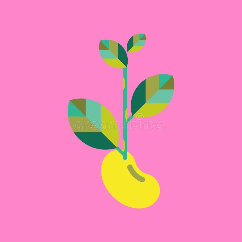 Vecteur d'icône de jeune arbre photographie stock libre de droits