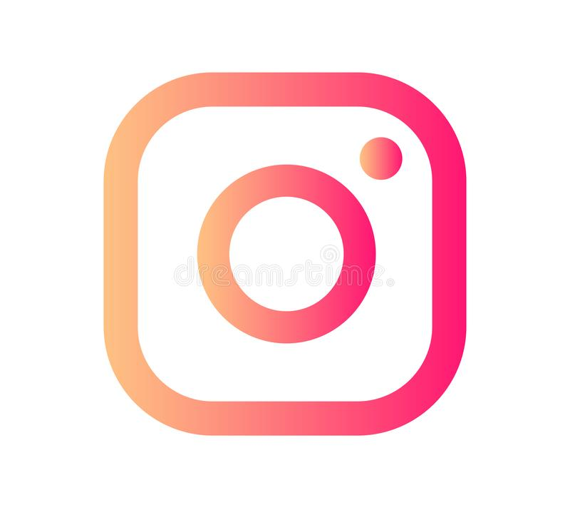 Vecteur d'ic?ne de logo de cam?ra d'Instagram avec l'illustration moderne de conception de gradient illustration stock