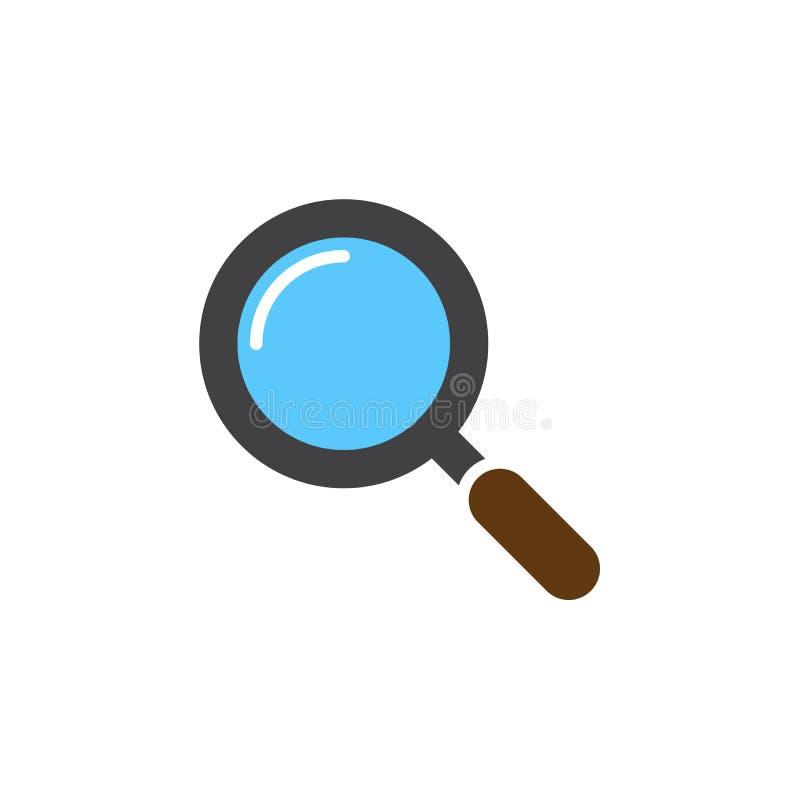 Vecteur d'icône de loupe, signe plat rempli, coloré solide illustration de vecteur