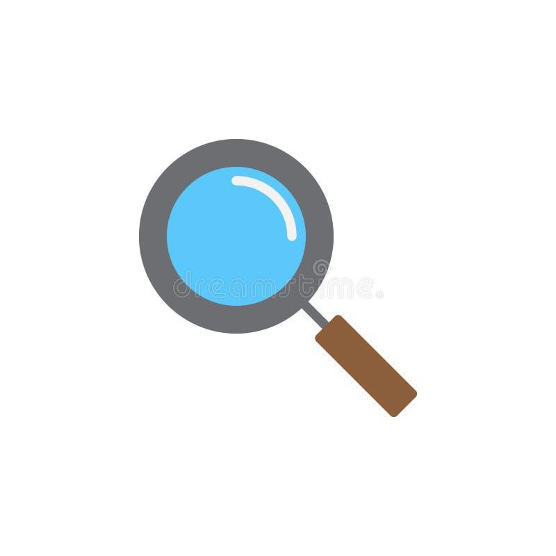 Vecteur d'icône de loupe, signe plat rempli, pictogramme coloré solide d'isolement sur le blanc illustration de vecteur