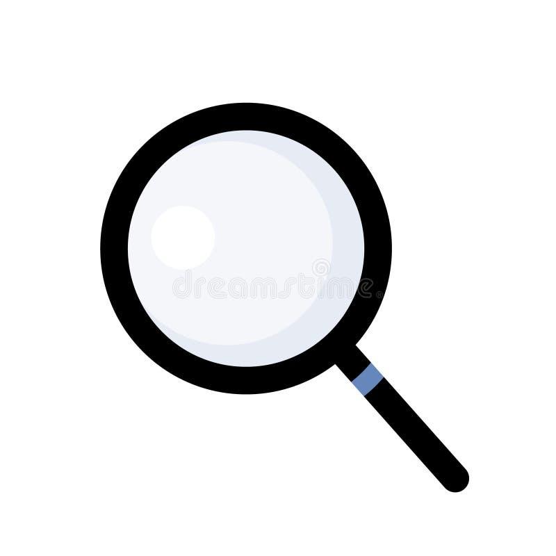 Vecteur d'ic?ne de loupe Symbole simple d'icône pour la recherche ou l'espionnage illustration stock