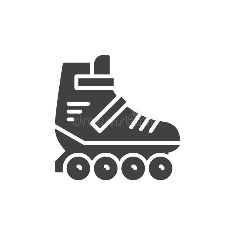 Vecteur d'icône de patin de rouleau, signe plat rempli illustration libre de droits