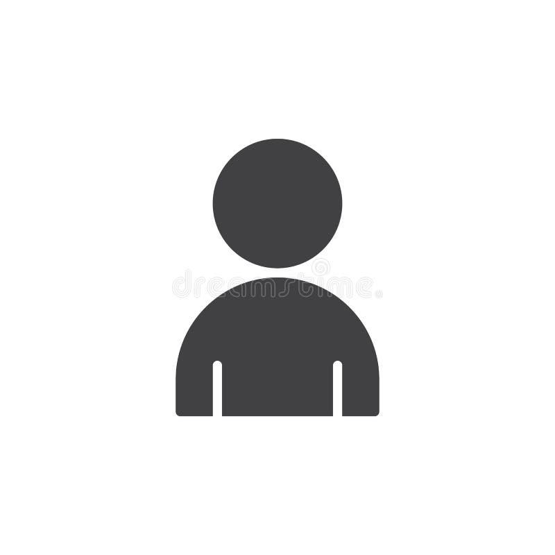 Vecteur d'icône de personne, signe plat rempli illustration de vecteur