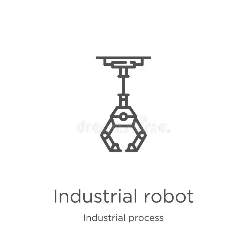 vecteur d'ic?ne de robot industriel de collection de processus industriel Ligne mince illustration de vecteur d'ic?ne d'ensemble  illustration stock